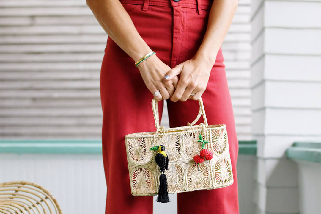 Cherry hand bag