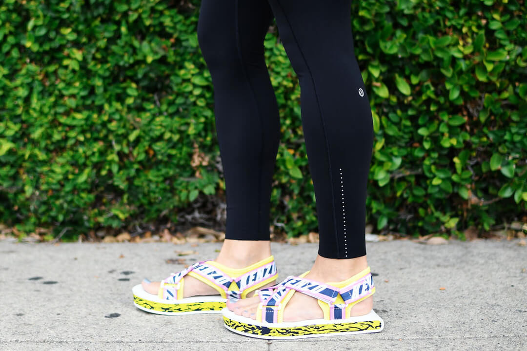 Yellow sporty sandals